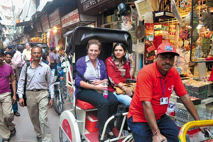 Rikshaw Ride in Chandni Chowk Delhi